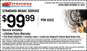firestone brakes coupon