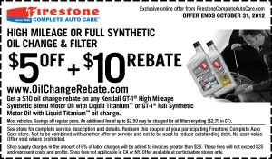 High Mileage or Synthetic Oil Change Coupon
