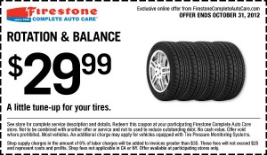 Tire Rotation coupon October 2012