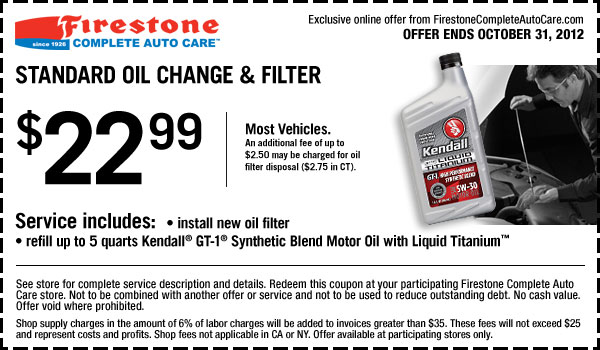 Firestone Coupons for October 2012