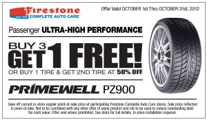 Free Primewell Tire Coupon at Firestone