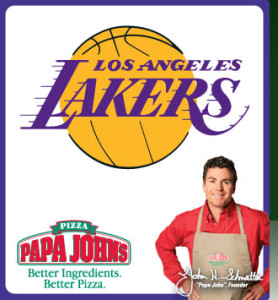 Papa Johns LA Lakers Discount