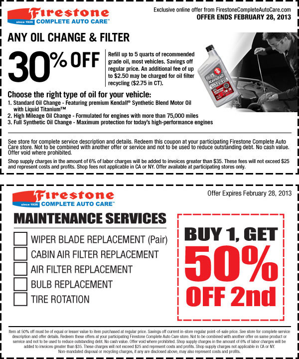 graphic regarding Oil Can Henry Coupons Printable referred to as Firestone car or truck coupon codes oil distinction : Browsesmart specials