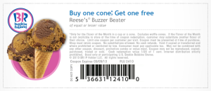 buy one get one free reeses cone