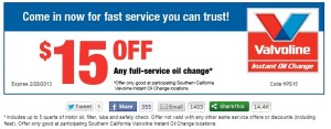 ez lube oil change coupon