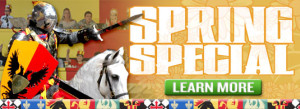 medieval times spring special