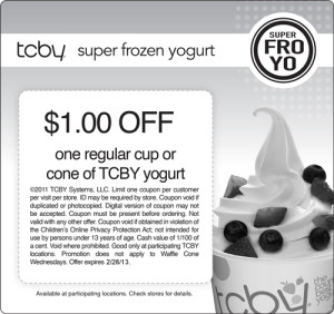 tcby super froyo coupon