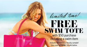 victorias secret swim tote free