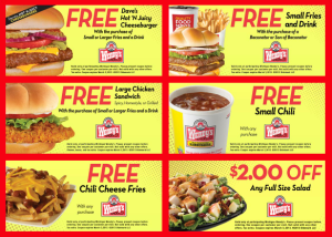 wendys coupons michigan