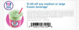 baskin robbins frozen beverage coupon