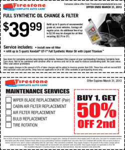 Synthetic oil coupons 2012 for Synthetic motor oil coupons