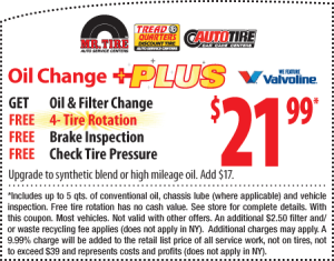 Oil change discount tire