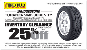 Tires Plus Bridgestone Turanza w Serenity Discount