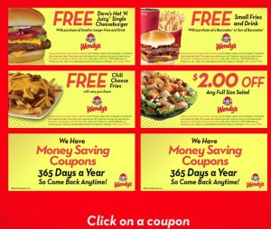 Printable Wendy's Coupons for Michigan Locations - May 2013