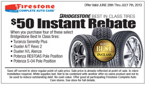Bridgestone Best in Class Discount Tires Coupon