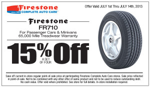 Firestone FR710 Tires Coupon