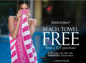 Free Victorias Secret Beach Towel