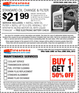 Firestone Coupon - Oil Change