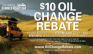 Synthetic oil change rebate - Firestone