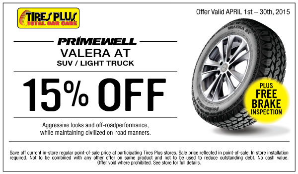 Tires plus discount coupons