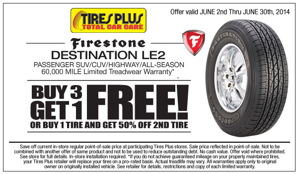 Tire discounts coupons