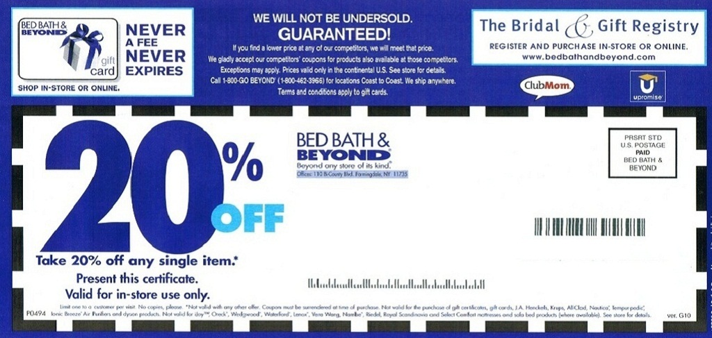 Where To Get  Bed Bath And Beyond Coupon