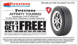 Firestone Affinity Touring Discount Tires