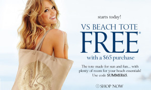 Free Victorias Secret Beach Tote Bag