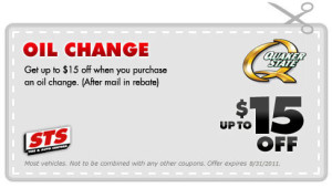 STS Oil Change Rebate