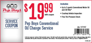 Nov 30,  · Pep Boys can help with coupons ranging from oil change offers, to tire purchases, installations and much more. Check back regularly for: Check back regularly for: Synthetic Oil Change .