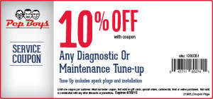 Discount tune up coupon from Pep Boys 2015